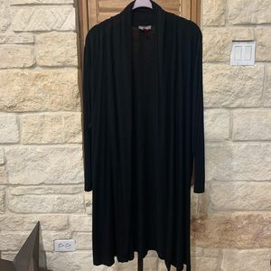 Vince Camuto Open Front Cardigan Black 1X